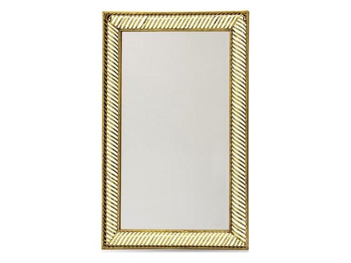 MUKESH lustro dekoracyjne w złotej ażurowej ramie w paski, 98x61x5 cm, rama 7,5 cm