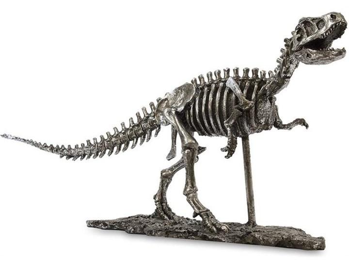 DINOZAUR srebrna dekoracja, szkielet, wys. 55 cm