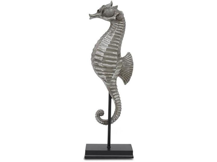 KONIK MORSKI figurka, dekoracja w stylu hampton na czarnej podstawie, wys. 52 cm
