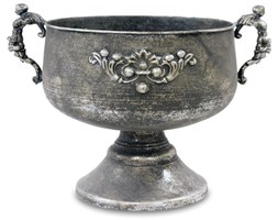 ZANITA wazon srebrny, 35x48x35 cm
