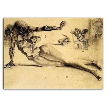 SALVADOR DALI - MIASTO SZUFLAD obraz, 50x70 cm