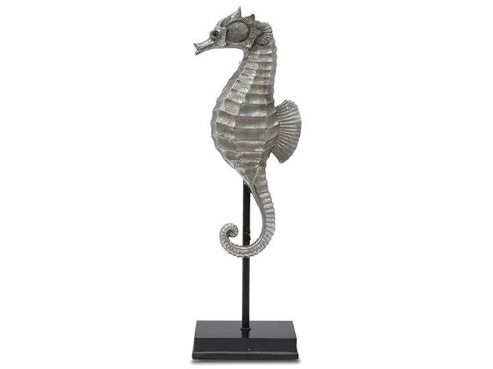 KONIK MORSKI figurka, dekoracja w stylu hampton na czarnej podstawie, wys. 43 cm