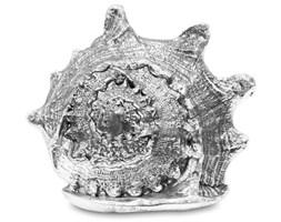 MUSZLA ozdoba, dekoracja srebrna 12x16x14 cm