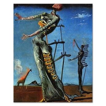 SALVADOR DALI - PŁONĄCA ŻYRAFA obraz, 40x50 cm