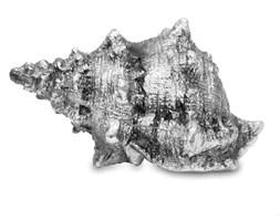 MUSZLA ozdoba, dekoracja srebrna 7x13x9 cm