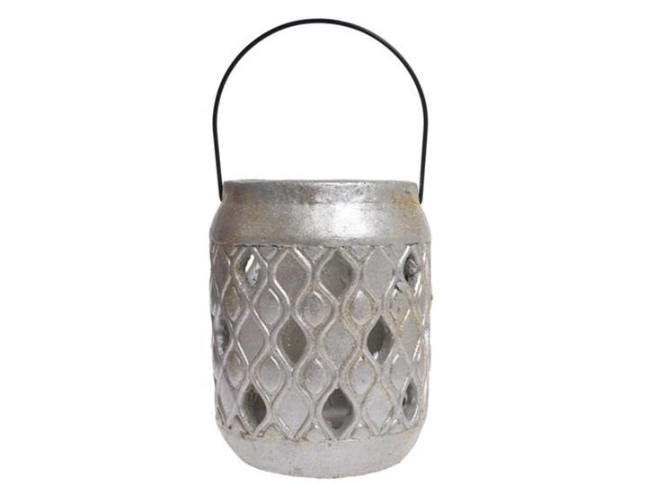 IMPRONTA lampion z kamienia srebrno-złoty, wys. 23 cm