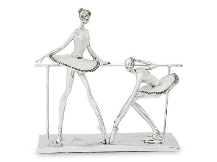 BALETNICE PRZY DRĄŻKU figurka / dekoracja srebrna, 27x27x8 cm