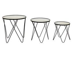 BERN komplet trzech okrągłych stolików, wys. 62/54/46 cm, Ø 60/50/40 cm