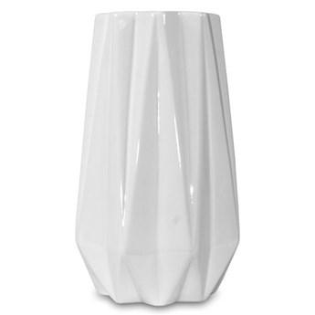 ARNE wazon geometryczny biały, wys. 25 cm