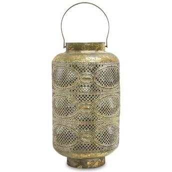 ASAM lampion ażurowy złoty z uchwytem, wys. 37 cm