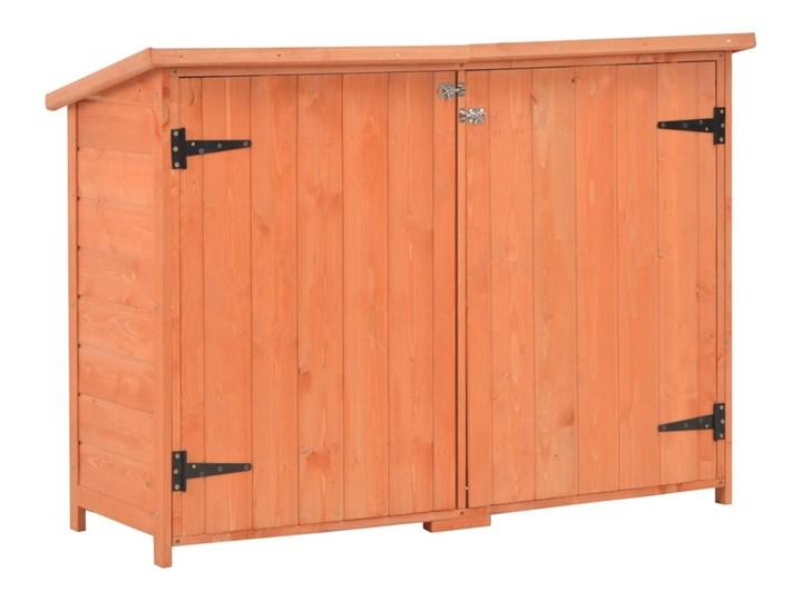 vidaXL Schowek ogrodowy, 120x50x91 cm, drewniany Drewno Domki narzędziowe Kategoria Domki ogrodowe