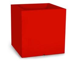 Donica kwadratowa Pixel Pot 50 cm z podwójnym dnem, czerwona