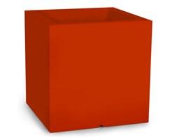 Donica kwadratowa Pixel Pot 50 cm z podwójnym dnem, pomarańczowa