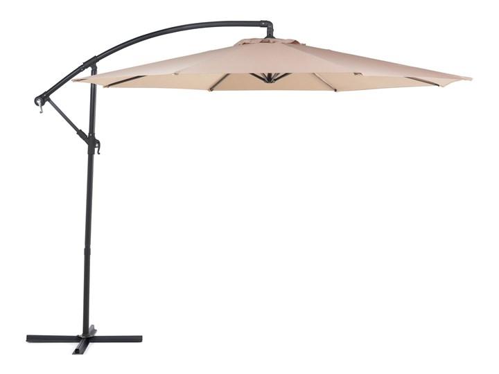 Parasol ogrodowy beżowy na wysięgniku Ø300 cm podwieszany ciemnoszara stalowa rama Parasole Kategoria Parasole ogrodowe