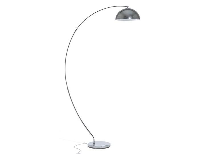 Lampa Stojąca Srebrna Podłogowa Oświetlenie Kama