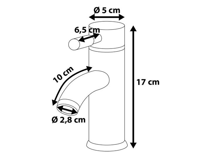 Bateria łazienkowa srebrna metal chromowany do umywalki nowoczesna Bateria umywalkowa Kategoria Baterie łazienkowe
