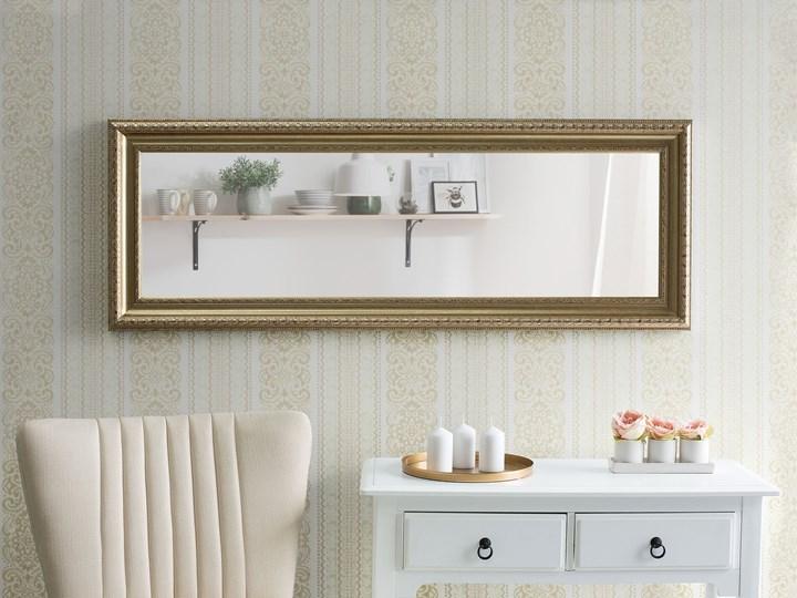 Lustro ścienne wiszące złote 51 x 141 cm ozdobne salon sypialnia Prostokątne Styl Vintage Lustro z ramą Styl Klasyczny