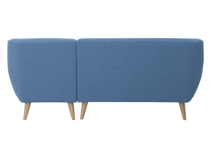 Narożnik lewostronny niebieski 3-osobowy pikowany styl skandynawski Typ Pikowane Szerokość 182 cm W kształcie L Kategoria Narożniki