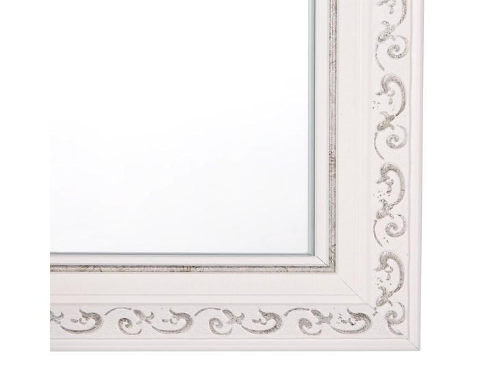 Lustro ścienne wiszące biało-srebrne 50 x 130 cm łazienka przedpokój Prostokątne Lustro z ramą Styl Klasyczny