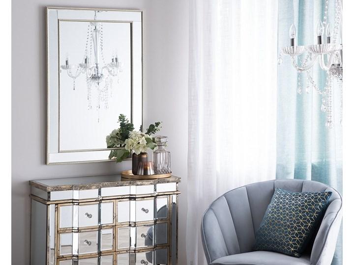 Lustro ścienne wiszące srebrne 60 x 90 cm Prostokątne Lustro z ramą Kolor Srebrny Styl Klasyczny