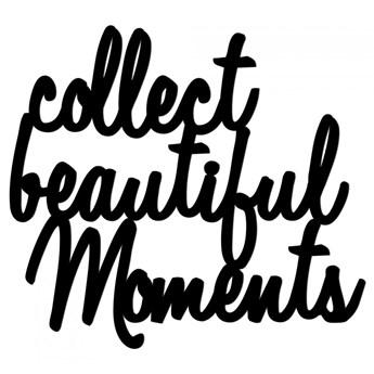 Napis 3D na ścianę 3D 50x55cm DekoSign COLLECT BEAUTIFUL MOMENTS czarny kod: CBM1-1