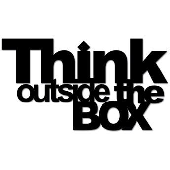 Napis 3D na ścianę DekoSign THINK OUTSIDE THE BOX czarny  kod: TOB1-1