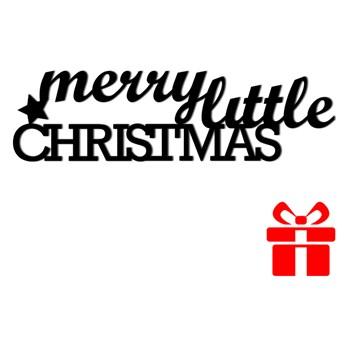 Świąteczny napis na ścianę MERRY LITTLE CHRISTMAS DekoSign kod: MLC1-1