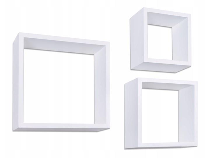 Półki Wiszące Cube Quad Zestaw 3 Szt Białe