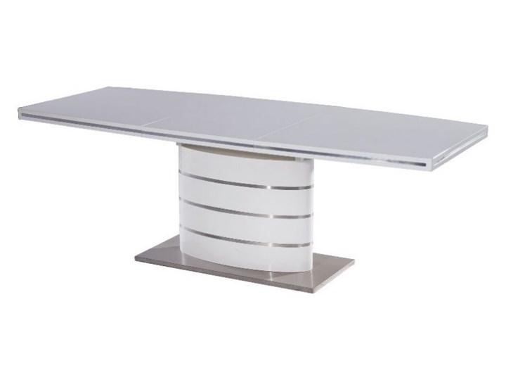 SELSEY Stół rozkładany Vaster 140-200x90 cm biały Płyta MDF Długość 200 cm  Długość 140 cm  Stal Wysokość 77 cm Pomieszczenie Stoły konferencyjne