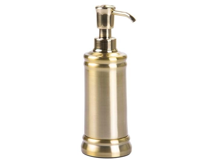Nierdzewny dozownik do mydła w kolorze złota iDesign Sutton Dozowniki Kolor Złoty Kategoria Mydelniczki i dozowniki