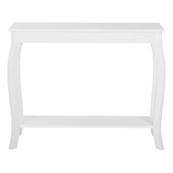 Konsola stolik z półką biały 100 x 30 cm styl prowansalski salon przedpokój sypialnia