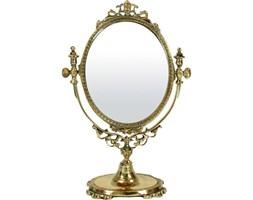 CORDOBA barokowe złote lustro na toaletkę, mosiądz, wys. 24 cm