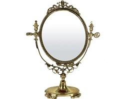 SEVILLA barokowe lustro na toaletkę, mosiądz, wys. 38 cm