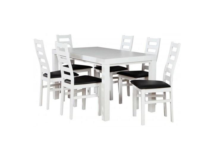 Zestaw stół z krzesłami dla 6 osób biały mat Z042