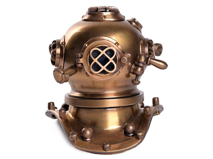 Diver Helmet Antique 16x18x20cm