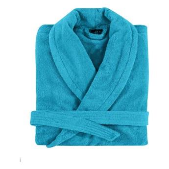 Szlafrok bawełniany Essix Aqua Turquoise