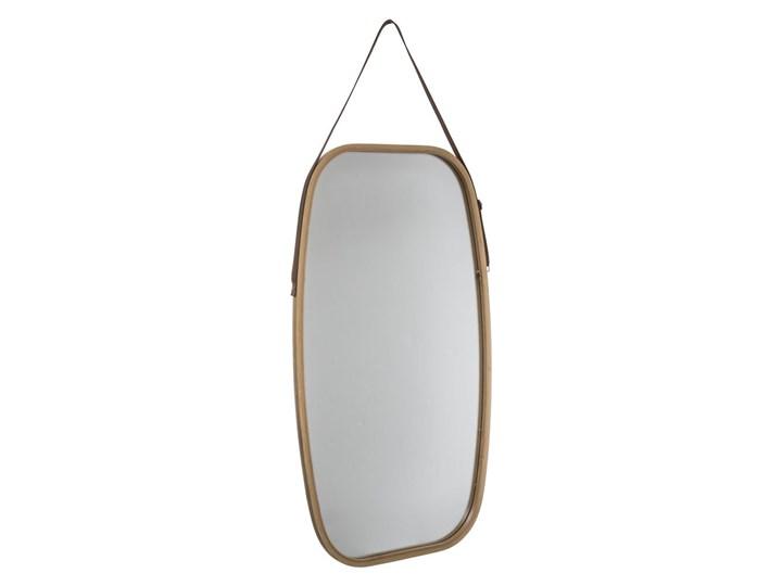 Lustro wiszące, prostokątne zwierciadło w bambusowej ramie do powieszenia na ścianie