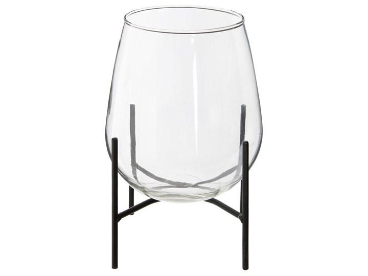Wazon szklany na metalowym stojaku, 24,5 cm