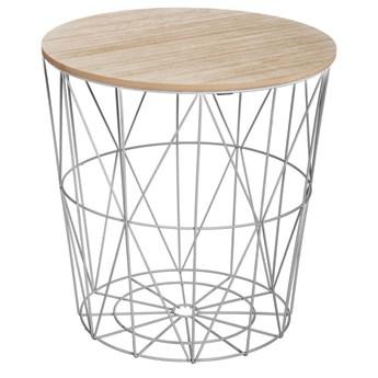 Okrągły stolik kawowy Gris Kumi, stolik do kawy, okolicznościowy, kolor szary