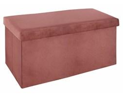 Pufa ze schowkiem, dwuosobowa ławeczka, kolor różowy