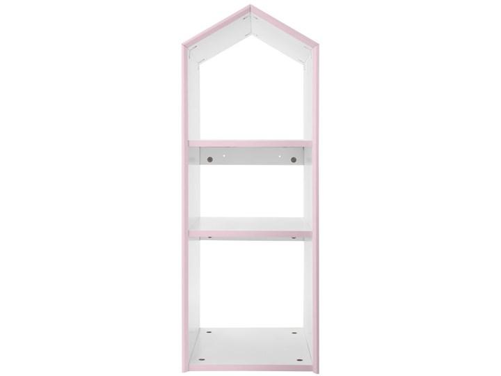 Regał z półkami w kształcie domku do pokoju dziecięcego, 86 cm, kolor różowy