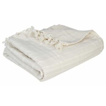 Narzuta na łóżko w kolorze kremowym, 250 x 230 cm, Atmosphera