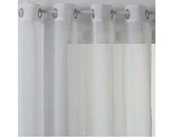 Firana na przelotkach biała, 140 x 240 cm, struktura prążkowana