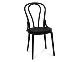 Krzesło ogrodowe polipropylenowe na taras balkon do kuchni ogrodu H832 czarne