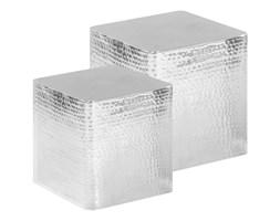 vidaXL Stoliki kawowe z aluminium, 2 sztuki, srebrne