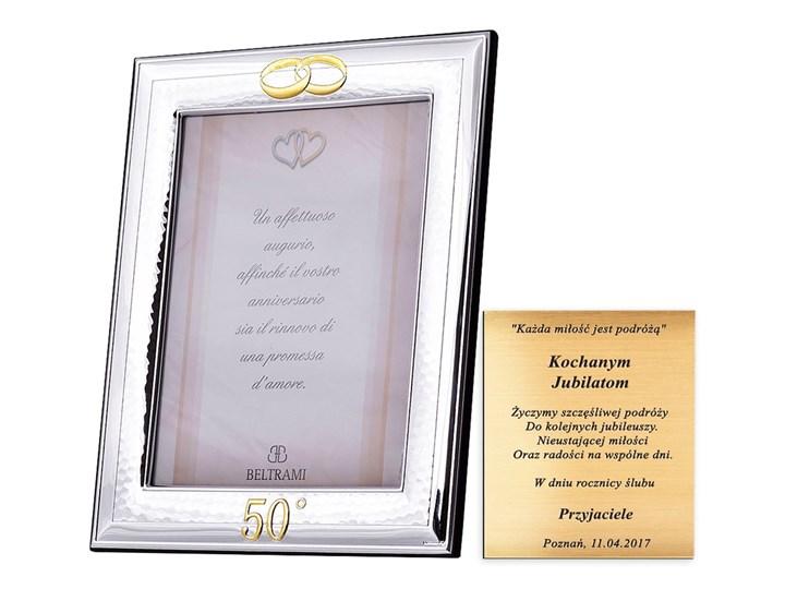 Prezent na ślub ramka na zdjęcie ślubna Drewno Ramka na zdjęcia Kategoria Ramy i ramki na zdjęcia Metal Rozmiar zdjęcia 20x24 cm