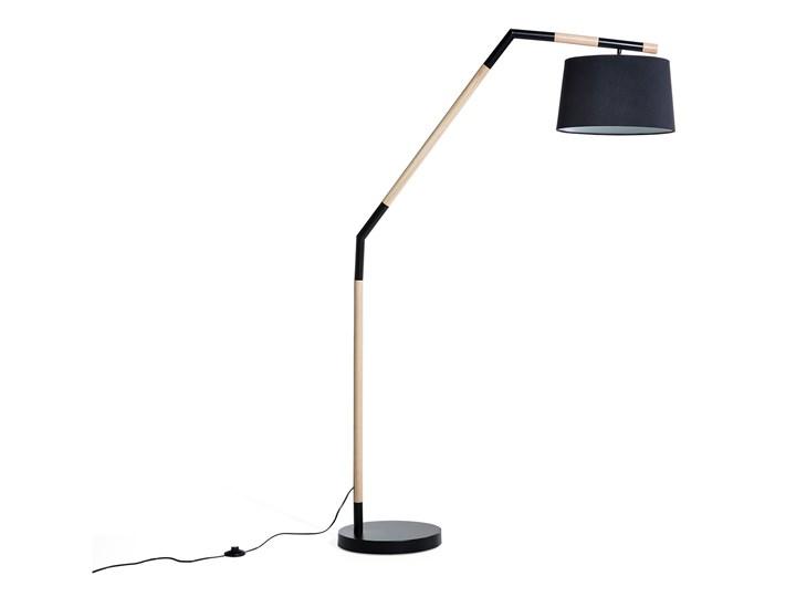 Lampa Stojąca Czarna Podłogowa Oświetlenie Nogat