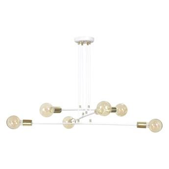VESIO 6 WHITE 786/6 lampa wisząca loft regulowana złote elementy