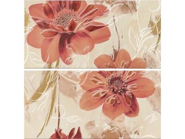 Płytka ścienna LAZIO beżowa inserto kwiaty 58,3x59,3 gat. I Płytki ścienne