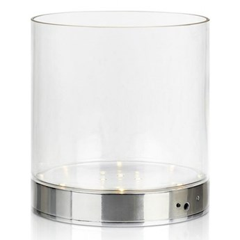 Wazon stołowy BOUQUET 19 cm Chrom/Przezroczysty 107326 Markslöjd 107326